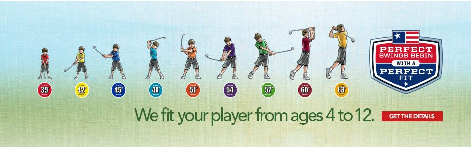 US Kids Golf - Fitting players from 4 to 12 years