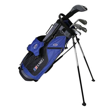 Picture of US Kids Junior UL60 5-Club Stand Bag Set WT-10u, Blue/Black/Grey Bag