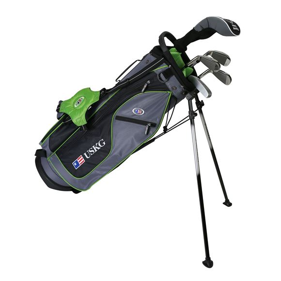 Picture of US Kids Junior UL57-s 5 Club Stand Set, Grey/Green Bag