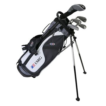 Picture of US Kids Junior UL57 5-Club Stand Bag Set WT-15u, Black/White/Grey Bag