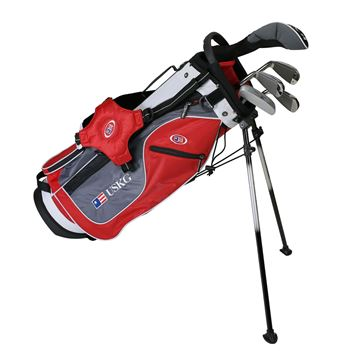 Picture of US Kids Junior UL54 5-Club Stand Bag Set WT-15u, Red/Grey/White Bag
