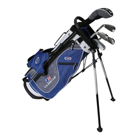 Picture of US Kids Junior UL51 5-Club Stand Bag Set WT-20u, Blue/Grey/White Bag