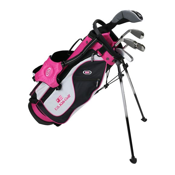 Picture of US Kids Junior UL51 5-Club Stand Bag Set WT-20u, Black/White/Pink Bag