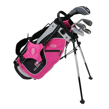 Picture of US Kids Junior UL48 5-Club Stand Bag Set WT-20u, Pink/Black/Silver Bag