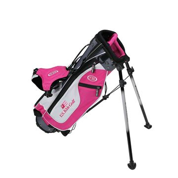 Picture of US Kids Junior UL45 Stand Bag Set WT-25u, 23 Inch, Pink/White/Grey Bag