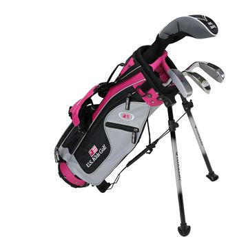 Picture of US Kids Junior UL42 4-Club Stand Bag Set WT-25u, Silver/Black/Pink