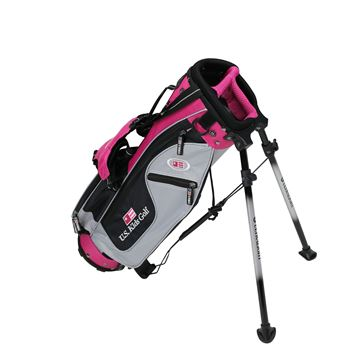 Picture of US Kids Junior UL42 Stand Bag WT-25u, 21.5 Inch, Silver/Black/Pink