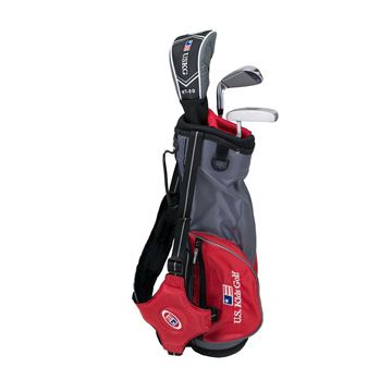 Picture of US Kids Junior UL39 3-Club Carry Bag Set WT-30u, Grey/Red Bag