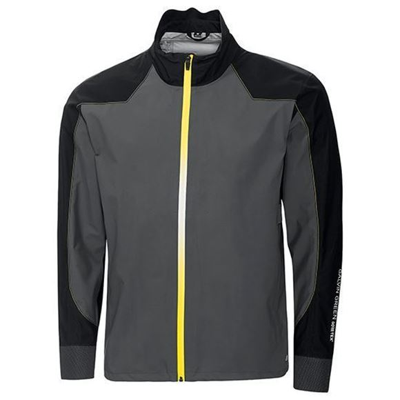 Picture of Galvin Green Mens Achilles Waterproof Jacket - Grey/Yellow