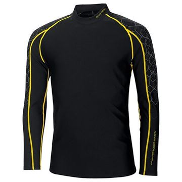 Picture of Galvin Green Mens Ebbot Skintight Base Layer - Black/Yellow