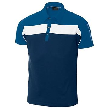 Picture of Galvin Green Mens Manny Golf Shirt - Navy / White
