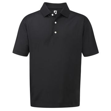 Picture of Footjoy Mens Stretch Pique Solid Knit Collar Polo Shirt