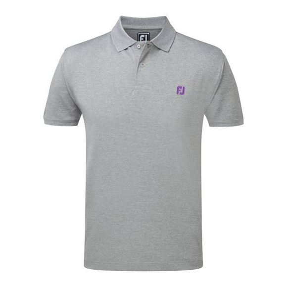 Picture of Footjoy Mens Athletic Fit Stretch Pique with FJ Chest Logo Polo Shirt