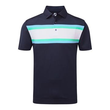 Picture of Footjoy Mens Stretch Pique All Colours Chest Stripe Polo Shirt