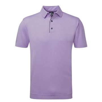 Picture of Footjoy Mens Stretch Jaquard Geometric Polo Shirt
