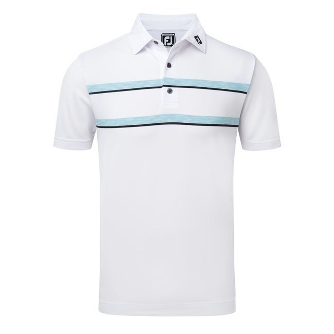 9851624c Picture of Footjoy Mens Stretch Pique Double Space Dye Chest Stripe Polo  Shirt 91971