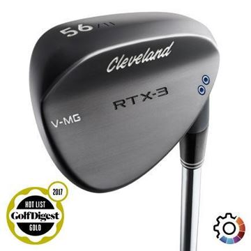 Picture of Cleveland RTX 3  Black Satin Wedge