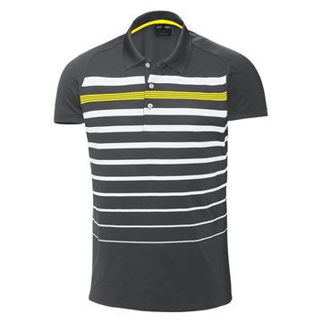 Picture of Galvin Green Mens Max Golf Shirt - Iron/Yellow