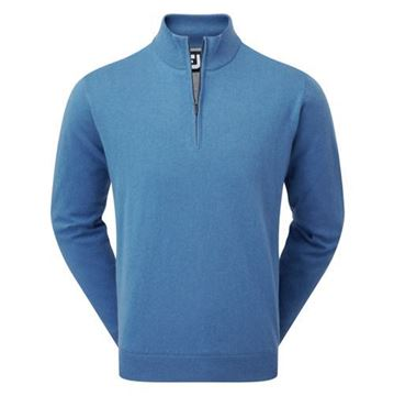 Picture of Footjoy Mens Lambswool Lined 1/2 Zip Pullover 95428