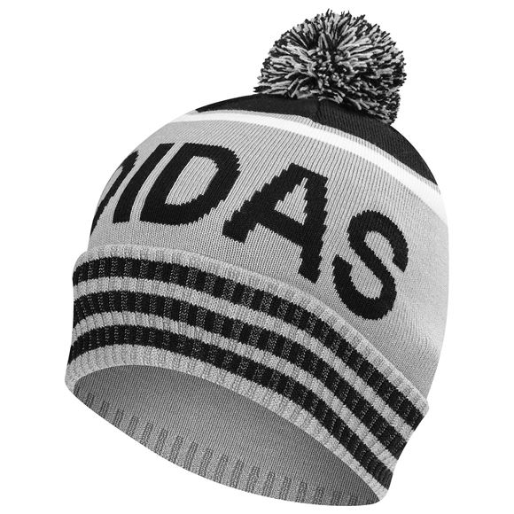 Picture of Adidas Pom Pom Beanie - Grey/Black/White