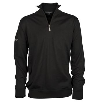 Picture of Greg Norman Golf Merino 1/2 Zip Sweater - Black