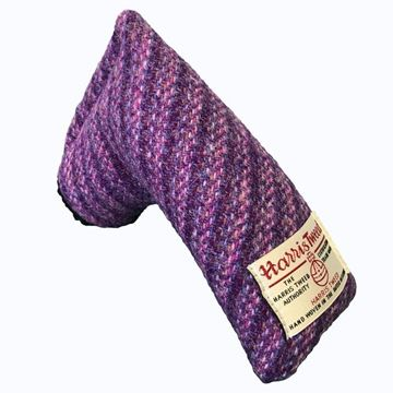 Picture of SRC Harris Tweed Putter Cover - Common Mallow