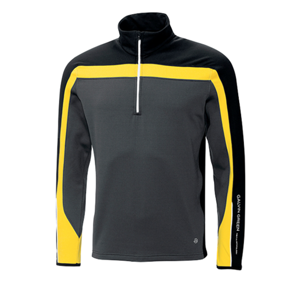 Picture of Galvin Green Mens Danny Insula Pullover - Grey/Yellow