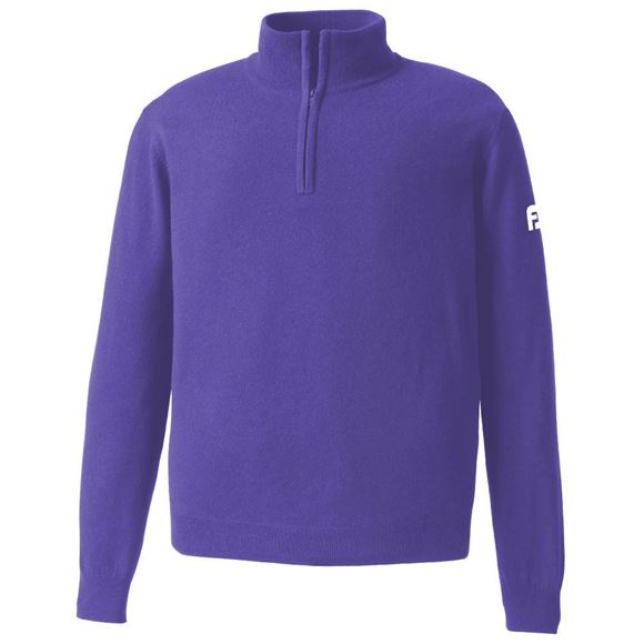 Picture of Footjoy Mens Lambswool Lined 1/2 Zip Sweater 95358