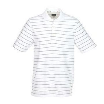 Picture of Greg Norman Golf Protek Micro Pique Stripe Polo Shirt - White/Black
