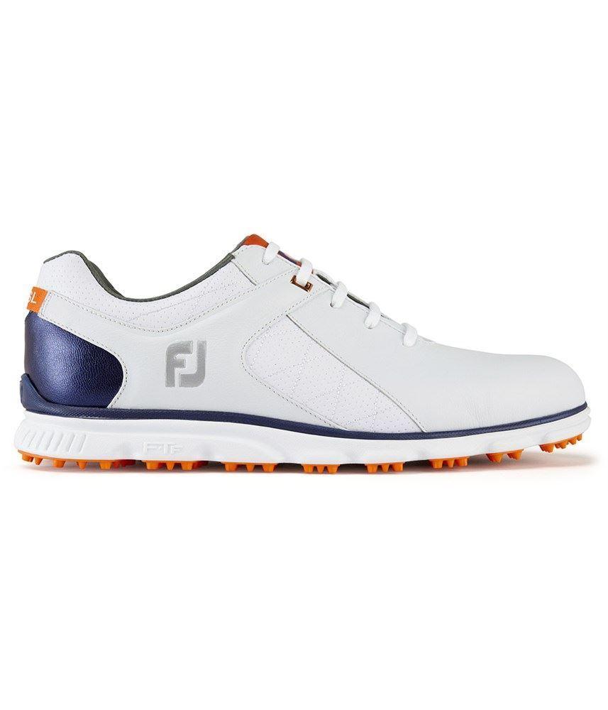 Footjoy Mens Golf Shoes Orange And White