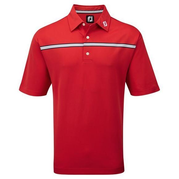 Picture of Footjoy Mens Stretch Pique Chest Stripe Self Collar Shirt 91738