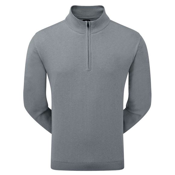 Picture of Footjoy Mens Lambswool Lined 1/2 Zip Pullover 95421