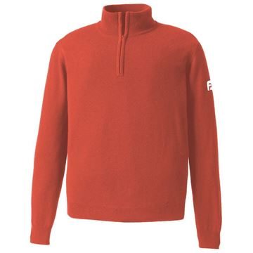Picture of Footjoy Mens Lambswool Lined 1/2 Zip Sweater 95357