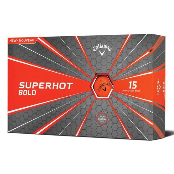 Picture of Callaway Superhot Bold Golf Balls - 15 Ball Pack - Orange
