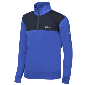 Picture of Oscar Jacobson Pock Tour Pullover - Blue