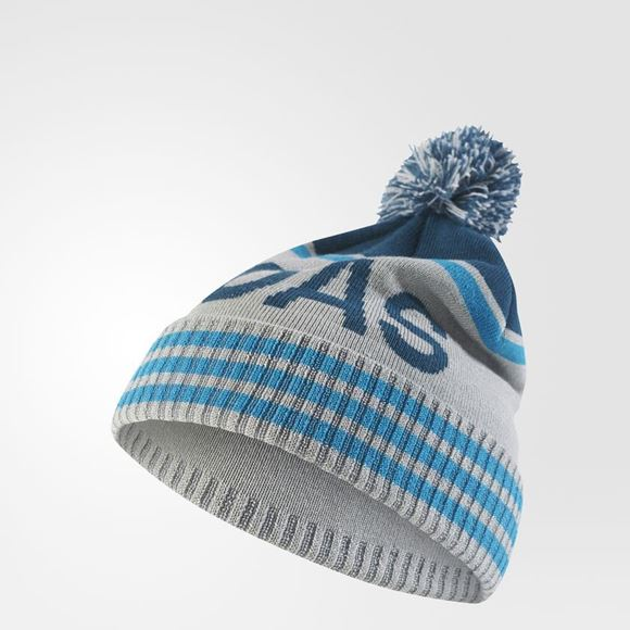 Picture of Adidas Pom Pom Beanie - Grey/Black/Blue