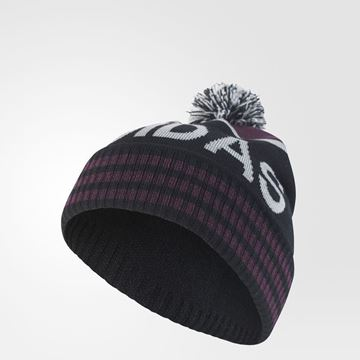Picture of Adidas Pom Pom Beanie - Black/Red