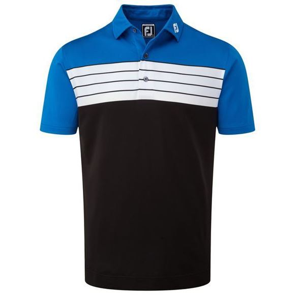 cf1799637 Picture of Footjoy Mens Stretch Pique Striped Colour Block Polo Shirt -  92439