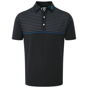 Picture of Footjoy Mens Lisle Engineered Pinstripe Polo Shirt - 92198