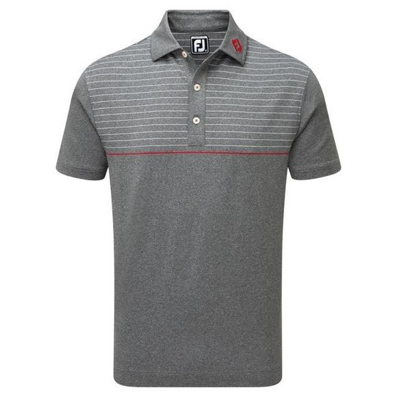 Picture of Footjoy Mens Lisle Engineered Pinstripe Polo Shirt - 92196