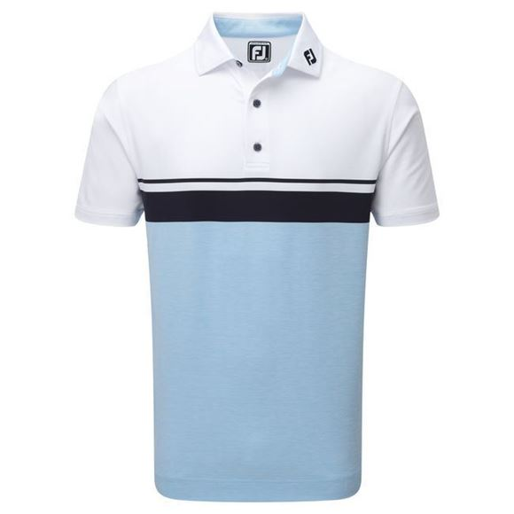 Picture of Footjoy Mens Lisle Colour Block Polo Shirt - 92467
