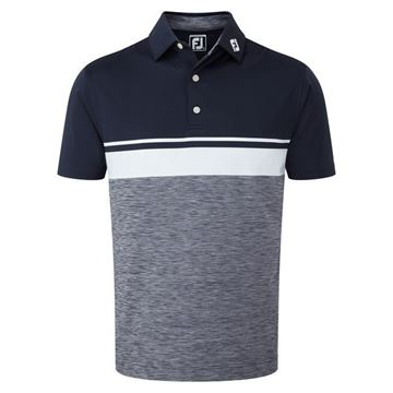 Picture of Footjoy Mens Lisle Colour Block Polo Shirt - 92470