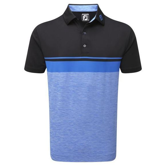 Picture of Footjoy Mens Lisle Colour Block Polo Shirt - 92469