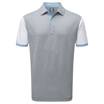 Picture of Footjoy Mens Stretch Pique Striped Colour Block Polo Shirt - 92471