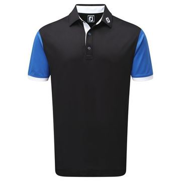 Picture of Footjoy Mens Stretch Pique Striped Colour Block Polo Shirt - 92473