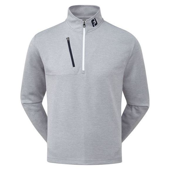 Picture of Footjoy Mens Heather Pinstripe Chill-Out Pullover - 92481