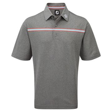 Picture of Footjoy Mens Stretch Pique Chest Stripe Self Collar Shirt 91736