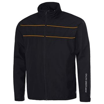 Picture of Galvin Green Mens Aldo Waterproof Jacket - Black/Orange