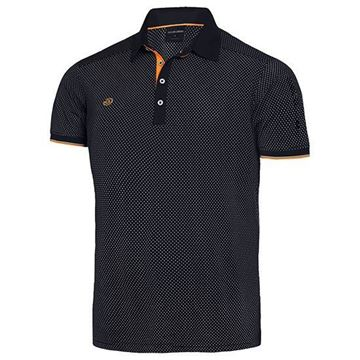 Picture of Galvin Green Mens Marlon Golf Shirt - Black/Orange