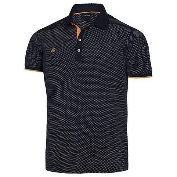 Picture of Galvin Green Mens Marlon Golf Shirt - Black/Orange